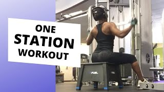 ONE STATION UPPER BODY WORKOUT description below
