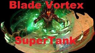 Path of Exile - Blade Vortex SuperTank MoM, EB, GR, Cybil's Paw, Block.