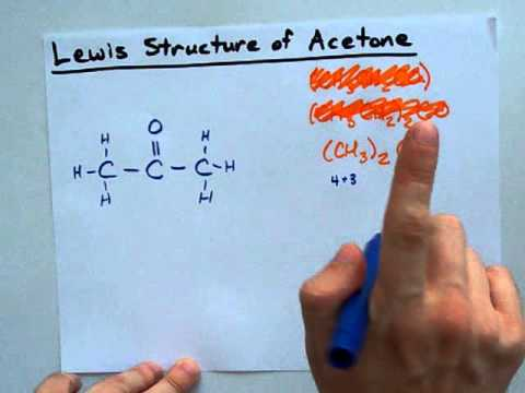 Lewis Structure of Acetone - YouTube
