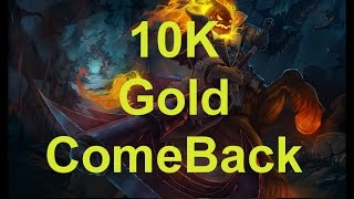 10000 Gold comeback Diamond ranked game