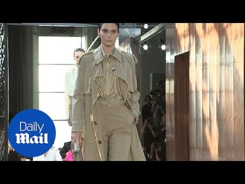 Kendall Jenner struts her stuff for Burberry at LFW