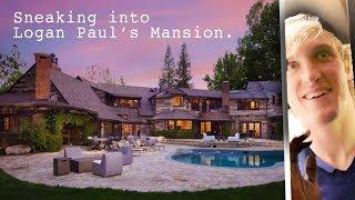 SNEAKING INTO LOGAN PAULS MAVERICK MANSION