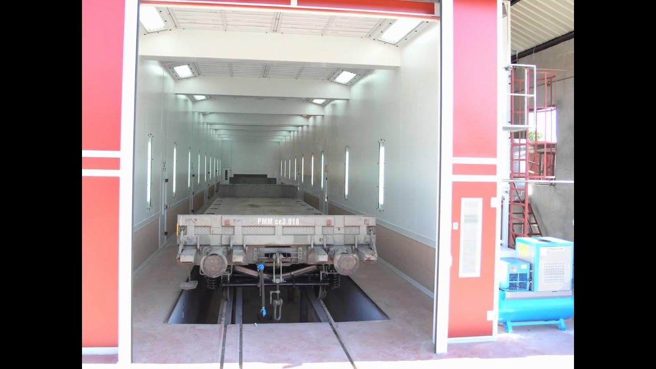 Cabinas de pintura industriales youtube - Cabina de pintura coches ...