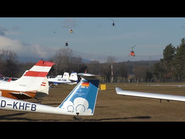 AutoGyro´s MTOsport several landings at Airfield Punitz | Silvester Fly-In 2017