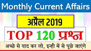 April monthly current affairs 2019 / अप्रैल की महत्वपूर्ण करेंट अफेयर्स / railway NTPC JE SSC CGL