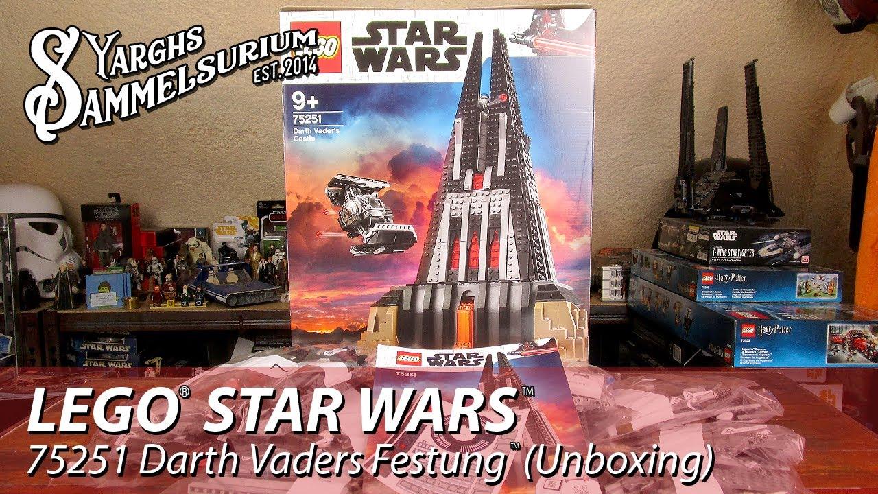 Unboxing Lego Star Wars Ro 75251 Darth Vaders Festung Vaders
