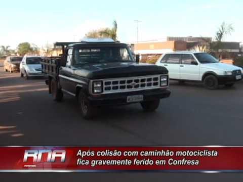 Após colisão com caminhão motociclista fica gravemente ferido em Confresa