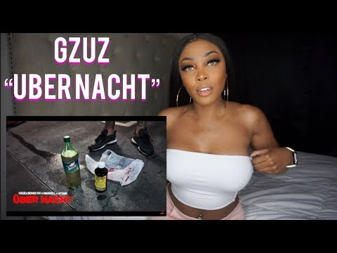 REACTING TO Gzuz - Über Nacht FT. UFO361 | Ashley Deshaun