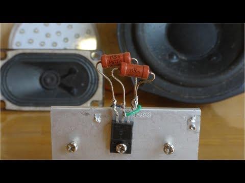 Усилитель звука для колонок своими руками 12в