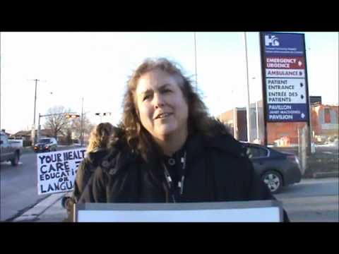 Don Smith covers the Cornwall Ontario Community Hospital Bilingual Protest