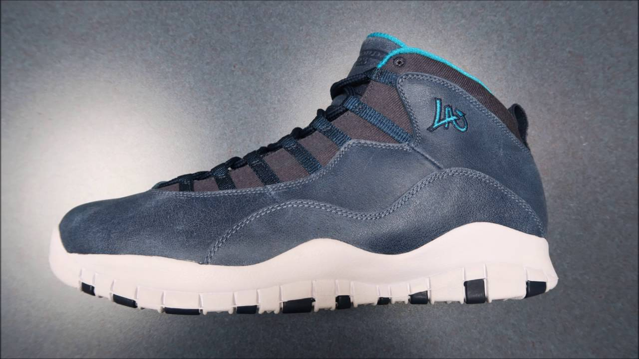 new arrival 90242 ba8c7 ... free shipping air jordan 10 los angeles la city pack sneaker detailed  look review with dj