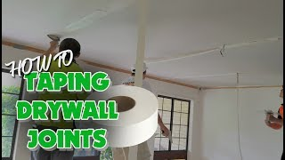 Taping a Drywall Ceiling using Paper Tape