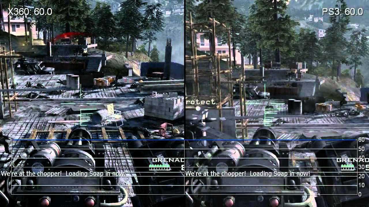 Call Of Duty Modern Warfare 3 360 Ps3 Frame Rate Gameplay