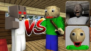 Monster School : BALDI'S BASICS VS GRANNY HORROR GAME - Minecraft Animation