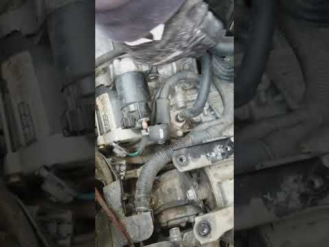 2010 scion XB starter removal  part 1