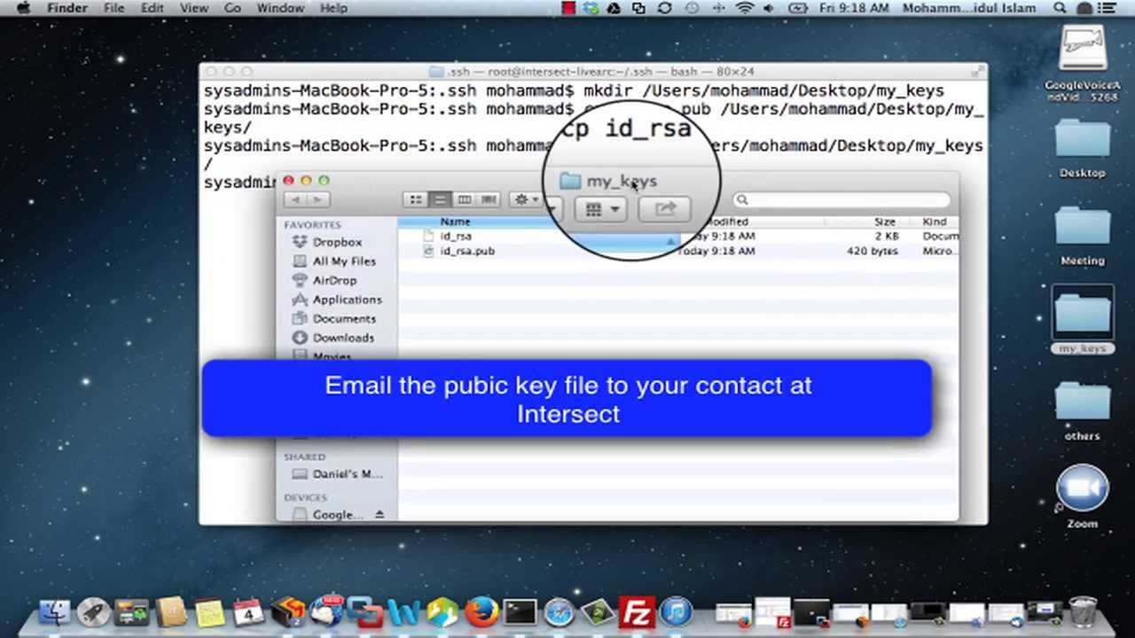 macos generate ssh key