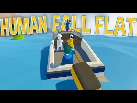 Human Fall Flat - Boating Gone CRAZY - Human Fall Flat Multiplayer Gameplay