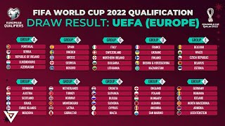 FIFA WORLD CUP 2022 EUROPEAN QUALIFIERS DRAW RESULT GROUP STAGE