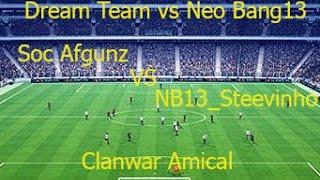 #Clan War FIFA 14  [ NB13_Steevinho vs Soc Afgunz ] Amicale NB13 vs Dream Team