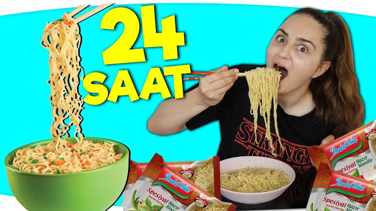 24 SAAT BOYUNCA SADECE NOODLE YEDİM !!