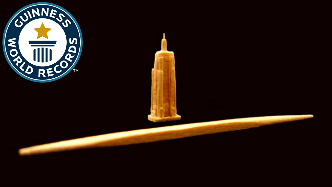 Toothpick Sculpture world's smallest toothpick sculpture - guinness world records