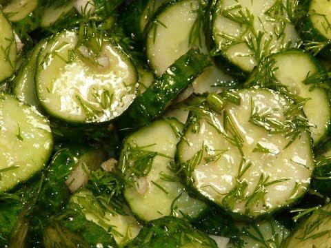 Маринованные огурцы быстрого приготовления/ Салат на каждый день / Cucumber Salad Recipe
