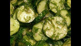 Салат на каждый день! Маринованные огурцы быстрого приготовления/  Cucumber Salad Recipe