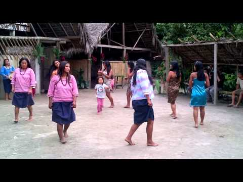Ecuador's Indigenous people performing for Tourists