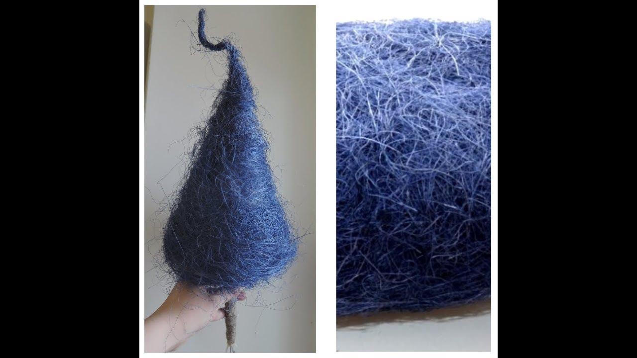 Новогодняя ёлочка из сизали. Как намотать сизаль на основу-конус.