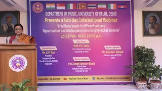INTERNATIONAL WEBINAR II  DEPARTMENT OF MUSIC II UNIVERSITY OF DELHI II 2021