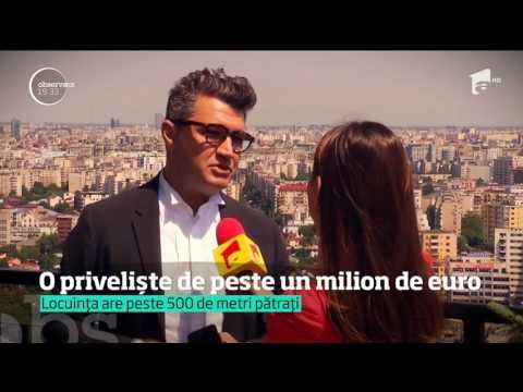 Penthouse-ul din cea mai înaltă clădire de apartamente din România se vinde pentru un milion şi