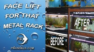 Diy - How To Give That Metal Fish Tank Rack A New Face Lift #111