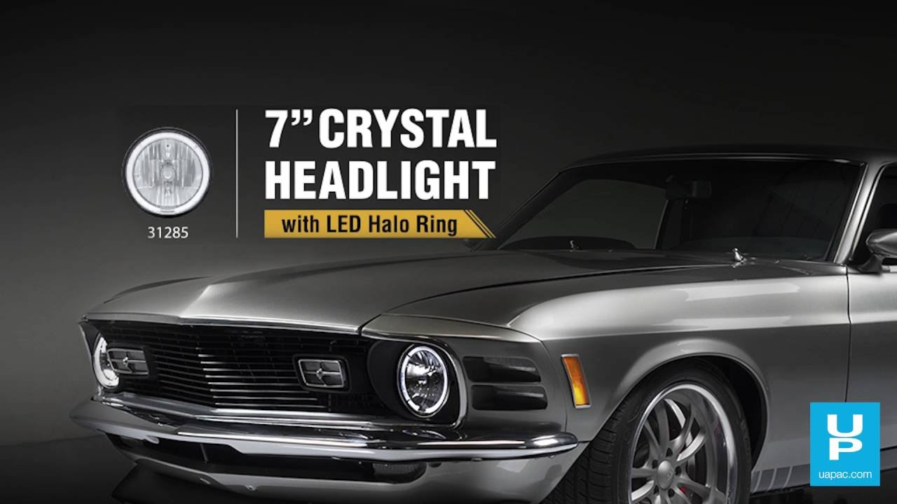 7 Crystal Headlight With Led Halo Ring 31285 Youtube United Pacific Wiring Diagram Industries