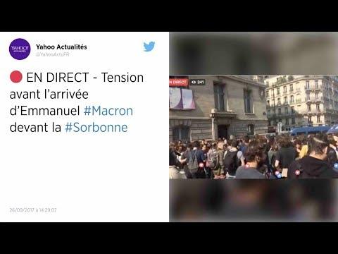 Tensions à la Sorbonne avant l'arrivée de Macron