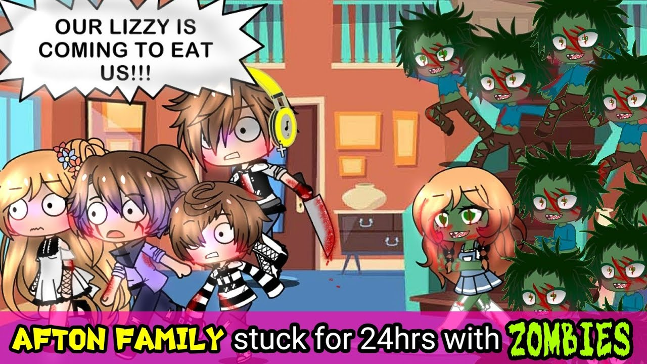 Download AFTON FAMILY stuck in a house for 24hrs challnge with ZOMBIES {ORIGINAL}ft Ennard Glitchy CB Ballora