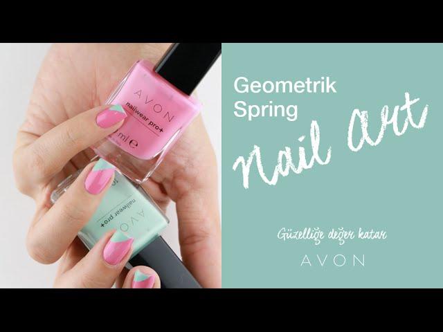 Geometrik Spring Nail Art | Ojemrujumrimelim