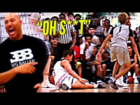 Thumbnail: LaMelo Ball DESTROYS Defender's ANKLES In Big Ballers CRAZY GAME vs Gamepoint Elite! LaVar WILDIN