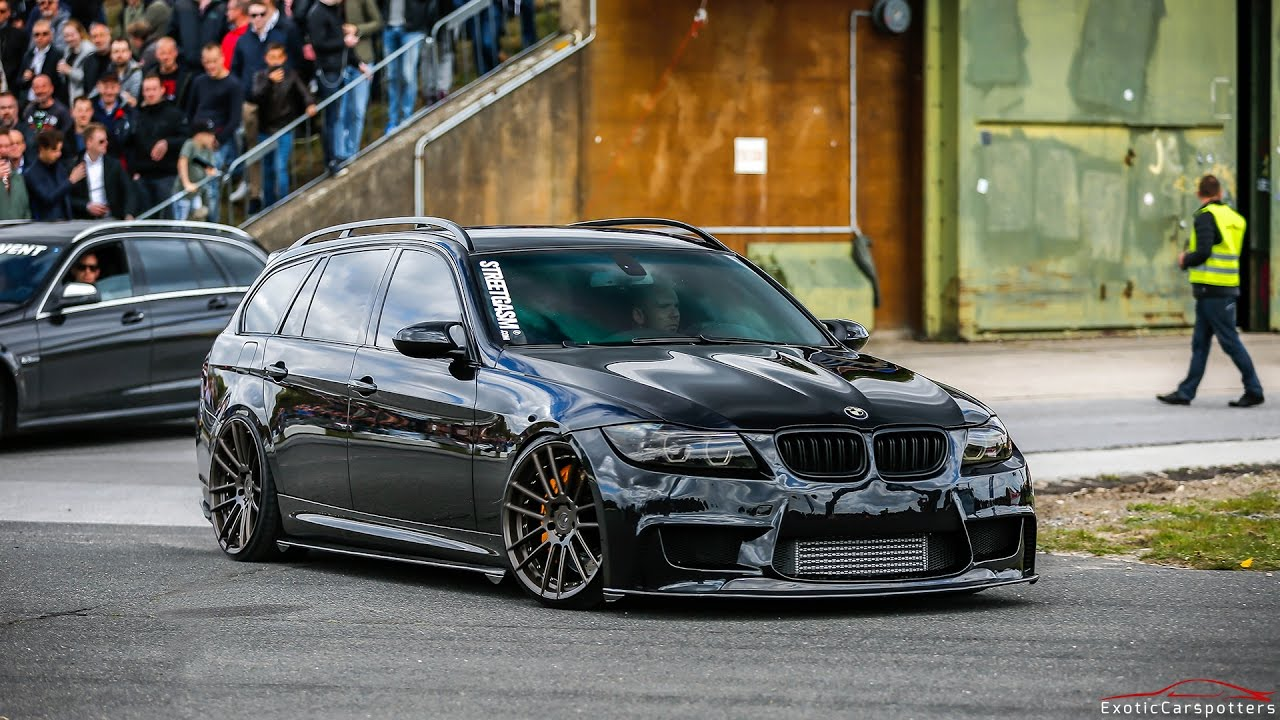 900hp bmw 335i e91 touring huge burnouts drag races. Black Bedroom Furniture Sets. Home Design Ideas