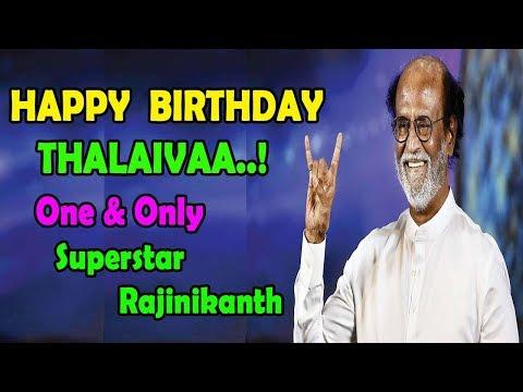 Happy Birthday Superstar Rajinikanth | Birthday Wishes From Rajini Fans | SRFC Fans | SRFC