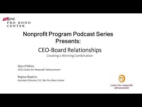 Nonprofit Program Podcast Series: CEO - Board Relationship