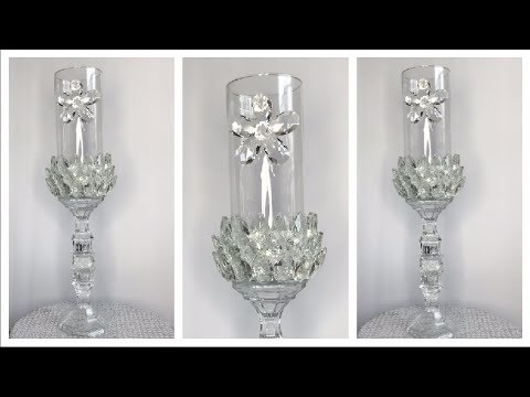 Diy Dollar Tree Glam Candle Holder | Animal Print Candle Holder