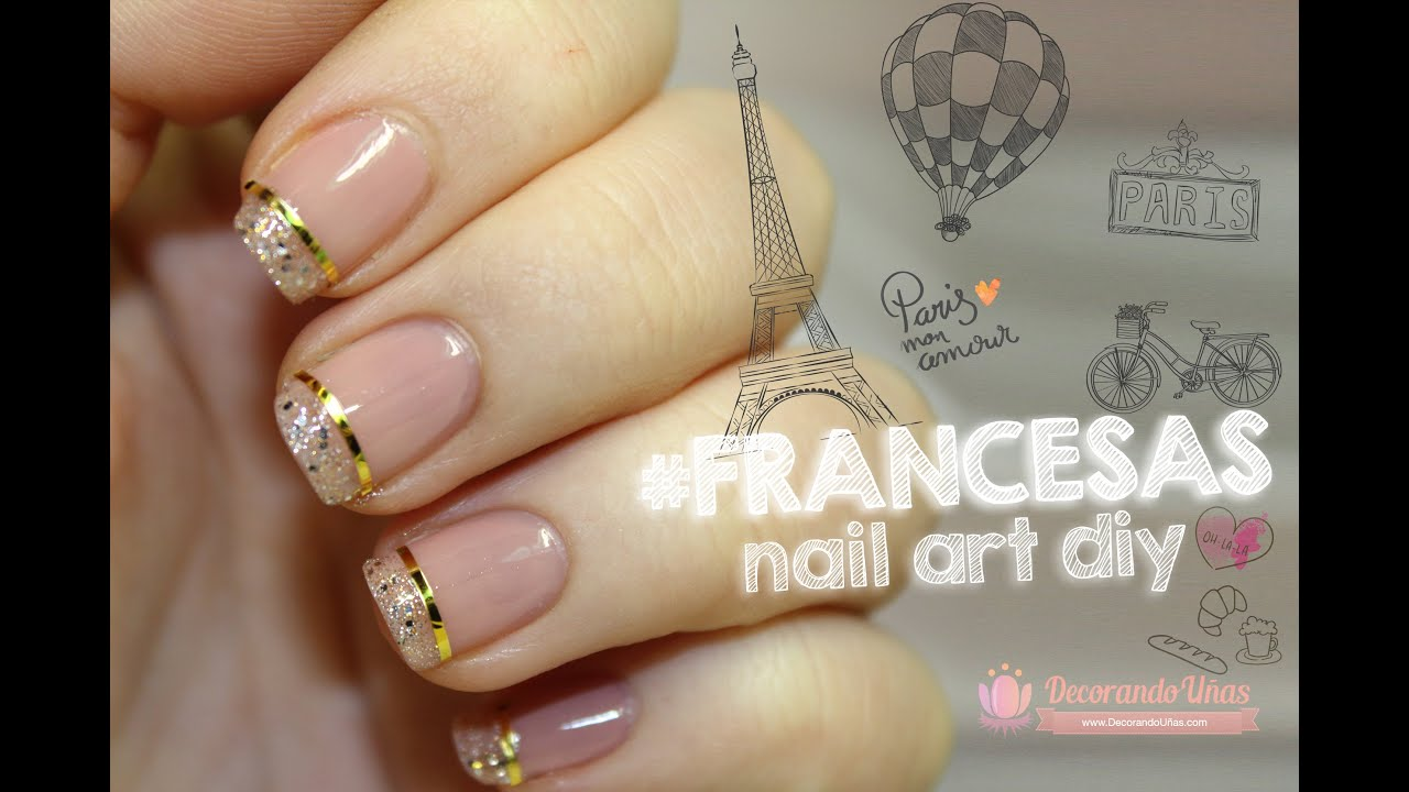 Uñas francesas elegantes, ideal para fistas - YouTube