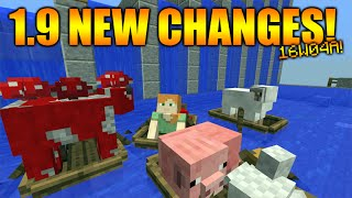 ★Minecraft 1.9 Update - NEW Sinking Boats & Boat Changes 1.9 Final Stages (Snapshot 16w04a)★
