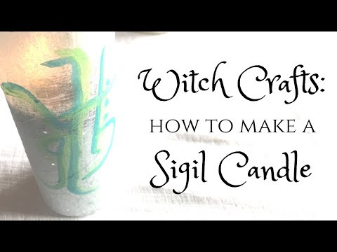 Witch Crafts   Create Your Own Sigil Candle for Candlemagick