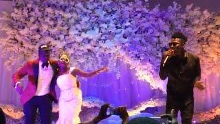 Reekado Banks performing Katapot and Oluwa Ni at a wedding