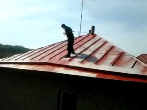 Покраска металлических крыш
