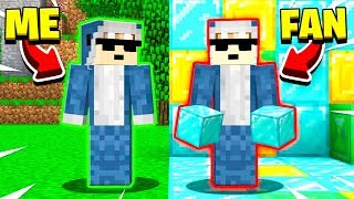 I Caught A FAKE FAN Pretending To BE ME in Minecraft!
