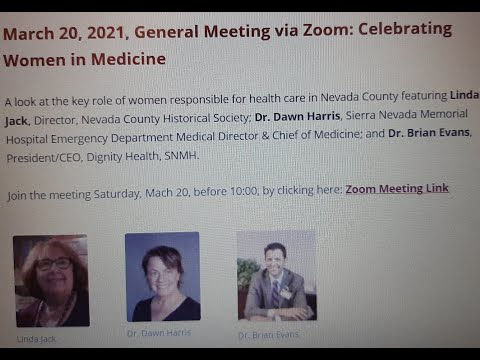 AAUW Nevada County Celebrates Local Women in Medicine-Past, Present and Future