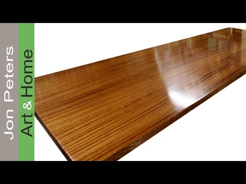 How To Finish A Wooden Countertop By Jon Peters Youtube