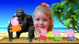 Learn Colors with Peppa Pig - Finger Family Song I Nursery Rhymes for kids